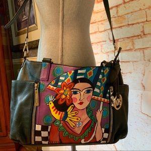 Michael Kors Hand Painted Upcycled Crossbody Bag